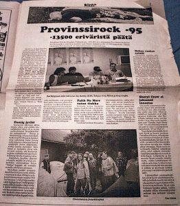 Vieskan Viikko -paikallislehti, Provinssirock-artikkeli (vapaa toimittaja Esa Linna) toimittajana Viestinnän tekijä Jyväskylästä vieskanviikko 262x300
