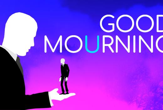Screenshot of Good Mourning  Maailman ensimmäinen läpipeluihin perustuva kävelysimulaattori Good Mourning Steamin Early Accessissa Good Mourning Logo 3 520x353
