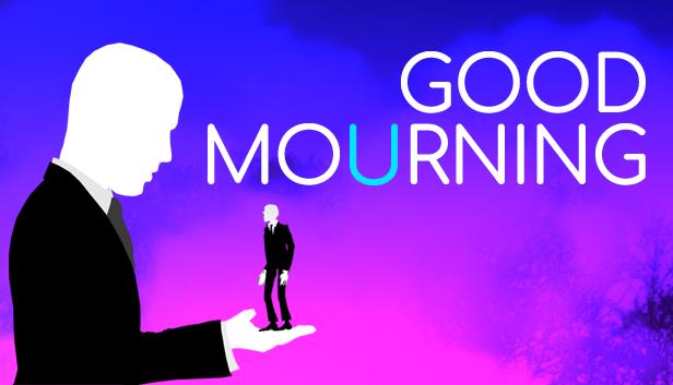 Screenshot of Good Mourning  Maailman ensimmäinen läpipeluihin perustuva kävelysimulaattori Good Mourning Steamin Early Accessissa Good Mourning Logo 3